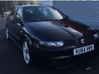 2004 Seat Leon Cupra 20V 1.8 Turbo Petrol 5 Door Hatchback Black Sport Car Fast