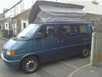 T4 VW Caravelle GL Pop-top Tailgate Campervan 3 berth / 5 seat / modular van.