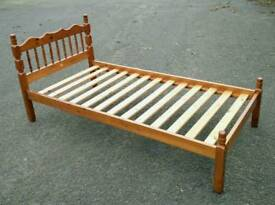 Pine single bed VGC ( delivery Leicester )
