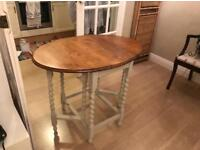 Vintage gate cross leg dinning table