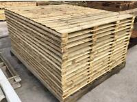🌈 High Quality Heavy Duty Tanalised Straight Top Wooden Garden Fence Panels