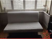 Ikea LYCKSELE Double Futon Sofa Bed Plus Cream Cover & The UPGRADED MURBO Mattress + I CAN DELIVER