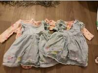 Tiny baby girl matching clothes for twins