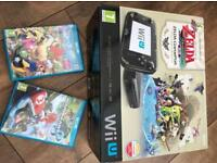 Nintendo Wii U (Zelda limited edition console) and games