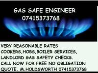 Gas cookers fit Boiler servicing