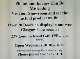 Glasgow Showroom. Website Link on ad.Mirror Doors Supplied and Fitted. All work guaranteed