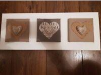 Shabby Chic Heart Wall Canvas