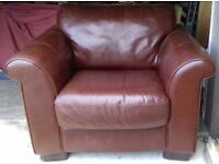 Large leather chairs x 2