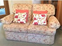 marks and spencers 2x2 seater sofa's and one arm chair in good condition