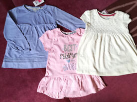 Girls new clothes: tops, dress, cardigans and outfit 2-3 years