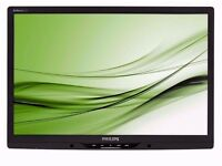 Dual Screen 2x Philips Brilliance 22 Inch Widescreen TFT LCD Monitor Built-in Speakers 1680 x 1050