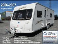 2006/07 BAILEY SENATOR WYOMING - TWIN AXLE - 4 BERTH - FIXED BED - MOTOR MOVER - WARRANTY + EXTRAS