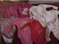 8x long sleeve baby vests 3-6 months