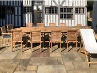 Teak Ascot 3 metre extending garden furniture set