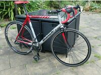 XL61cm Bianchi Via Nirone 18speed Racer Campagnolo Gears Easton Wheels Liteweight Alloy/CarbonFrame