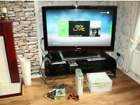 XBOX 360 GO PRO Console, Wireless Controller and Games Bundle