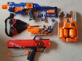 Job lot of nerf gun with amo