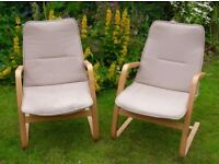 Two Ikea 'PELLO' armchairs - very good condition