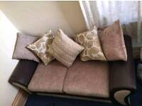 NEW 3 Seater Brown Sofa