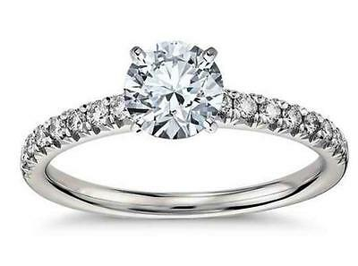 1.99ct Round cut Anniversary Diamond Engagement Ring Solid 1