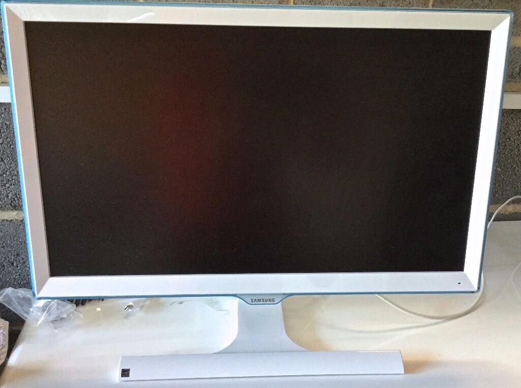 SAMSUNG S22E391HS 22-Inch LED PLS HDMI Contemporary Monitor - Gloss White & Blue £80 ovno