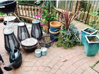Gardeners, Ceramic planters- beautiful blues!!