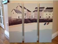 3 Piece Canvas - Coastal Scene - from John Lewis