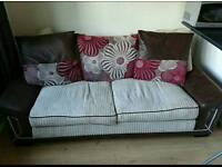 2 seater fabric sofa in very good condition