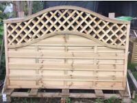 4ft x 6 ft. Panels, Hit & Miss Style with Trellis Top. New. AVAILABLE IMMEDIATELY