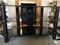 EXCELLENT CONDITION BLACK TV STAND