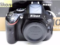 Nikon D5100 digital camera body 3630 shots + 8GB SD card + soft case BOXED **Very Good Condition**
