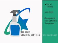 PROFESSIONAL CLEANING SERVICES - END OF TENANCY - AIR BnBs - DOMESTIC