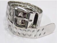 Silver shiny belt men's new!