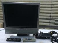 "15"" Tv/ Monitor and free view box"