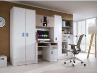 NEW Furniture set XXL wardrobe computer desk cupboard shelves drawers ideal for kids