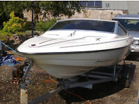 Fletcher 15 foot Speedboat with 70hp Outboard & Indespension Trailer