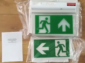 Brand new Emergency lighting - exit signs
