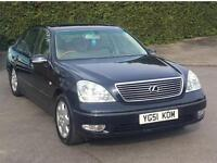 2002 LEXUS LS430 STARTS AND DRIVES LS 430 FRIDGE MASSAGE HEATED DOUBLE GLAZED SOFT CLOSE NAV