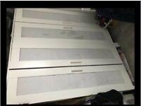 Ikea white/silver wardrobe