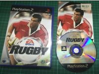 Rugby For Sony Playstation 2, PS2, Complete with manual