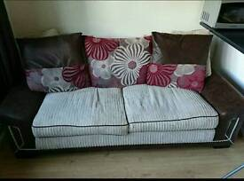 2 seater fabric sofa in excellent condition