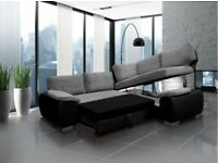 SOFA SALE PRICES: Enzo corner sofa beds available in various colours and fabrics: FR TESTED