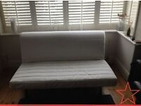 Ikea LYCKSELE Double Futon Sofa Bed Frame & The UPGRADED & Very Comfy MURBO Mattress + I CAN DELIVER