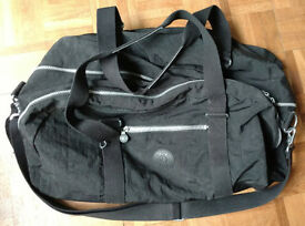 Black Kipling gym bag / holdall, 53cm x 26cm x 30cm