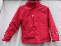 Oxylane girl's pink padded raincoat UK 8 years