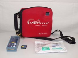 Philips Heartstart FR2+AED Defibrillator with Battery, 1 Pack of NEW Electrodes, Memory Card & Case.