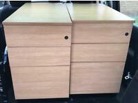 2 Office Pedestals With 3 Draws