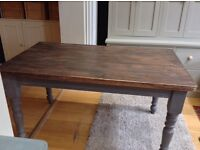 Up cycled antique pine farmhouse dining table 5ft