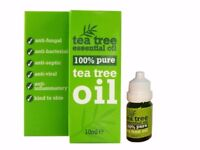 100 % Pure Tea Tree Essential Oil 10ml- Melaleuca Alternifolia Anti Fung