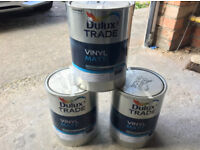 15L Dulux Trade Paint - Matt Clouded Pearl 4 (Light Grey)